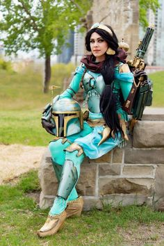 Alana Waffles makes a beautiful Mandalorian Princess!!