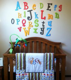 Painted Wooden Alphabet Letter Set  10 to 6 by JoyOfChildren, $109.99