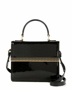 Embossed mini tote bag - Black   Bags   Ted Baker SEU