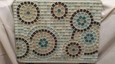 Side or auxiliary retractable Mosaic table, Mandalas design Bohemia Chick by VeraAttic on Etsy