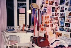 My bedroom 1984 - This is where I spent so much of my teen years - dreaming, talking on the phone, doing very little homework...