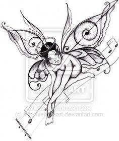 fairie design | ... fairy tattoo designs that show fairies along with flowers, vines