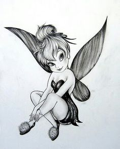 Tinkerbell tattoo idea..makes me think of Addisyn