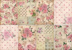INSTANT DOWNLOAD diGiTAL CollAge shEeT VicToRiAn FLoRaL by bitmap, $4.25