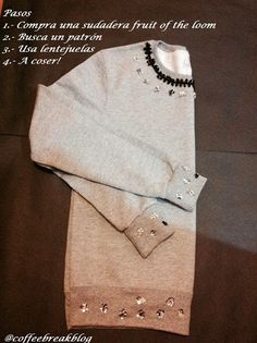 Coffee Break: Sudadera Personalizada para el Otoño #DIY Embelished Sweatshirt with sequins