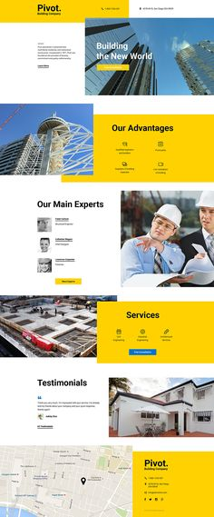 Construction Company Landing Page Template. Easy customizable theme with 24/7 accessible customer support.