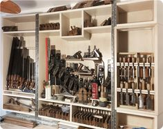 The Part-Time Woodworker: Some Things Are Just Worth The Wait. The Part-Time Woodworker: Some Things Are Just Worth The Wait… Woodworking Hand Tools, Woodworking Workshop, Woodworking Projects Diy, Wood Projects, Workshop Storage, Tool Storage, Storage Organizers, Workshop Ideas, Diy Garage
