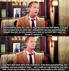 Have faith that there are people in the world who view love like Barney.<3