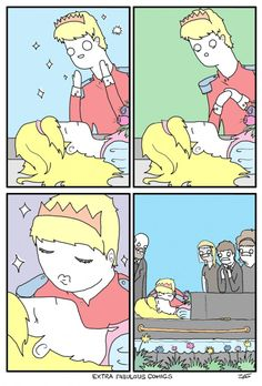 Oh sleeping beauty... wait what?!