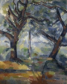 cezanne1902 04 grands arbres big trees il y a - Lumire Colore