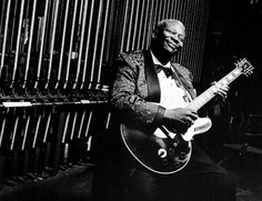 The concert of the legendary guitarist B.B. King in Paris
