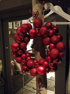 Jannes kreative verden: Julekulekrans:)