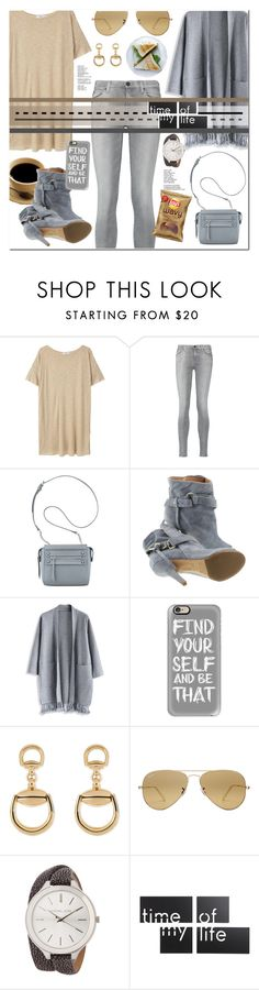 """""""What to wear: fall lunch date."""" by sinesnsingularities ❤ liked on Polyvore featuring MANGO, 7 For All Mankind, Nine West, Maison Margiela, Chicwish, Casetify, Gucci, Ray-Ban, MICHAEL Michael Kors and Umbra"""