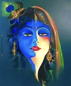 As Lord Shiv and Goddess Parvati both are one polpularly known as अर्धनारीश्वर similarly Lord Krishsn and Radhaji are one . Lord Krishna Images, Radha Krishna Pictures, Radha Krishna Photo, Cute Krishna, Krishna Art, Radhe Krishna, Krishna Photos, Shree Krishna, Radha Krishna Sketch