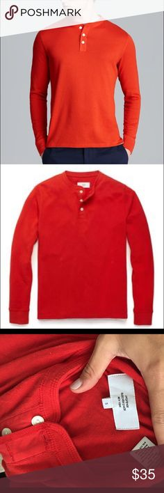 Jack Spade Dawn Henley Small Red Like New Cleaning out my boyfriend's closet and have a number of Jack Spade henleys that he's never worn. This one is red- also have olive green and black. 100% cotton, super high this quality. Jack Spade Shirts Tees - Long Sleeve