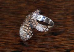 Sterling Silver Rhinestone Snake Wrap Ring by MayberryGraphics
