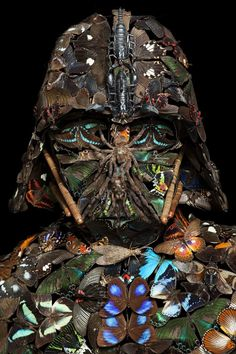 Darth Vader made out of bugs... NOPENOPENOPE