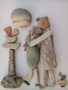 the art room plant: Nizar Ail Badr II Stone Pictures Pebble Art, Pebble Stone, Stone Art, Stone Crafts, Rock Crafts, Arts And Crafts, Art Pierre, Sea Glass Mosaic, Rock Sculpture