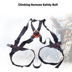 Climbing Accessories Competent Thicken Climbing Harness Adjustable Waist Leg Protection Safety Belt Half Body Outdoors Camping & Hiking