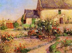 The Garden at Kervaudu (Ferdinand du Puigaudeau - )