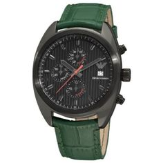 Relógio Emporio Armani Men's AR5936 Sport Black Chronograph Dial Watch #Relógio #Emporio Armani
