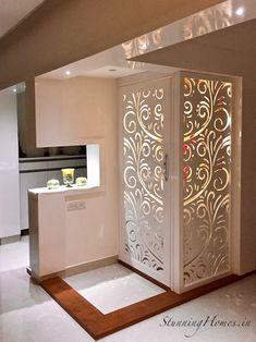 Stunning Homes Interior Concepts Living Room Partition Design, Pooja Room Door Design, Room Partition Designs, Living Room Tv Unit Designs, Small House Interior Design, Home Room Design, Interior Design Kitchen, House Design, Apartment Interior