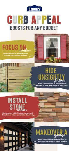 Check out our simple and affordable tips to enhance your home's exterior.