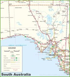 Large Detailed Map Of South Ustralia With Cities Nd Towns Australia Map, Road Trip, Cities, Maps, Blue Prints, Map Of Australia, City, Map, Cards