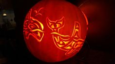 Haida Killer Whales - 2015 - (Right) - Halloween Pumpkin - Jack-o-lantern