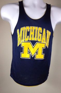 Vintage Michigan Wolverines and Notre Dame Reversible Basketball Practice Jersey | eBay