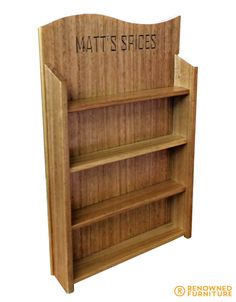 Custom Made Furniture, Spice, Bookcase, Carving, Shelves, Projects, Design, Home Decor, Log Projects