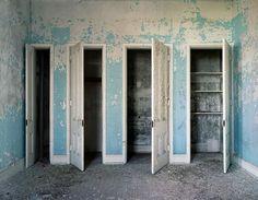 """Linen Closets, Traverse City State Hospital, Michigan"" - Christopher Payne"