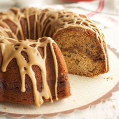 The only thing better than butter is browned butter. This coffee cake uses it twice: In its brown sugar and pecan batter and again in its vanilla and yogurt filling. Coffee-flavor icing offers the perfect finish. Best Coffee Cake Recipe, Coffe Cake, Cake Recipes, Dessert Recipes, Fall Desserts, Dessert Ideas, Vanilla Coffee Creamer, Sweet Coffee, Butter Frosting