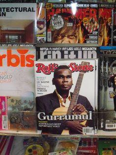 Blind Aboriginal singer Geoffrey Gurrumul Yunupingu on cover of Australia's Rolling Stone in 2011 (my picture)