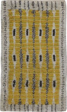 Vintage Rya Rug, No. 22539 - 3ft. 5in. x 5ft. 9in. Rya Rug, Navajo Rugs, Rug Inspiration, Cheap Rugs, Weaving Textiles, Unique Rugs, Rug Hooking, Textile Patterns, Woven Rug