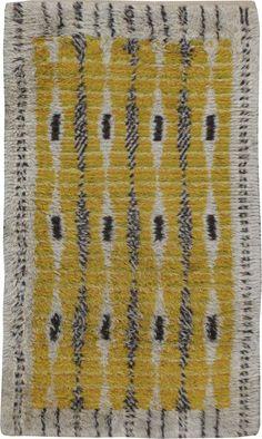 Vintage Rya Rug, No. 22539 - 3ft. 5in. x 5ft. 9in.