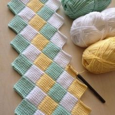 How to make this beautiful Tunisian stitch Free Baby Blanket Patterns, Crochet Rug Patterns, Baby Knitting Patterns, Crochet Designs, Handmade Baby Blankets, Knitted Baby Blankets, Tunisian Crochet Stitches, Knitting Stitches, Crochet Home