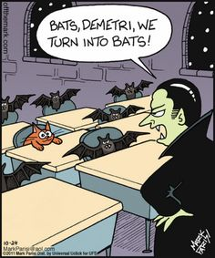 Halloween Humor – Cats, Bats, and Vampires Halloween Cartoons, Halloween Fun, Halloween Humor, Halloween Vampire, Funny Cartoons, Funny Comics, Funny Jokes, Hilarious, Daily Cartoons