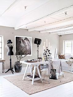 Home tour of Swedish photographer Hannah Lemholt