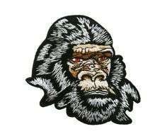 Gorilla Monkey Embroidered Applique Iron on Patch
