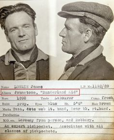 vintage everyday: Mugshots from the 1930s with Curious Details