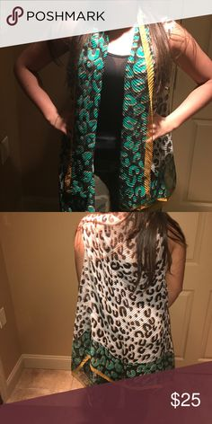 Silk Cover-Up Leopard Swim Coverups