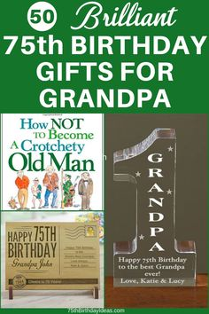 Looking for the best birthday gift ideas for Grandpa? Shop 50 amazing gifts for the 75 year old grandpa. Grandpa Birthday Gifts, Birthday Gag Gifts, Birthday Gift Baskets, Birthday Candy, Birthday Gift For Him, Grandpa Gifts, Dad Birthday, Birthday Crafts, Birthday Ideas