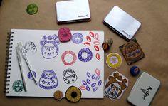 Sellos variados en foamy y gomas de borrar, por María Tenorio. Entrada en mi blog Gineceo