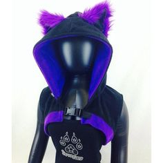 Pawstar Kitty CAT sleeveless SHRUG you choose color theme anime... ❤ liked on Polyvore featuring costumes, cat lady costume, womens halloween costumes, gothic halloween costumes, cosplay costumes and cat lady halloween costume
