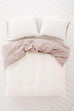 Reversible Linen Blend Duvet Cover - Urban Outfitters