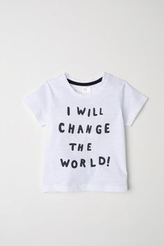 Camiseta de algodón - Blanco/Change the World! - NIÑOS | H&M ES 1