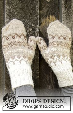 Nordic - Free knitting patterns and crochet patterns by DROPS Design Knitted Mittens Pattern, Mitten Gloves, Knitting Patterns Free, Free Knitting, The Mitten, Drops Design, Jersey Jacquard, Groomsmen, Knitting Projects
