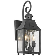 """Monterey Collection 18"""" High Charcoal Outdoor Wall Lantern - #3J298   LampsPlus.com"""