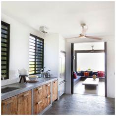 Betonnen keuken, betonnen vloeren
